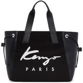 Kenzo Black Large Logo Essentials Tote