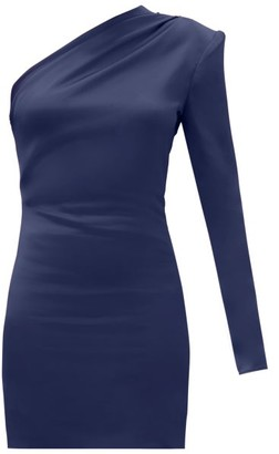 GAUGE81 Charras One-shoulder Satin Mini Dress - Navy