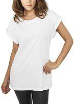 Urban Classics Women's Ladies Extended Shoulder Tee T-Shirt,UK 12