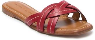 Veronica Beard Maili Vachetta Stitch Slide Sandal