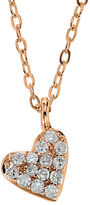 Lord & Taylor 14Kt. Rose Gold and Diamond Heart Pendant Necklace