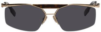 Christian Dior Gold DiorPsychodelic Sunglasses