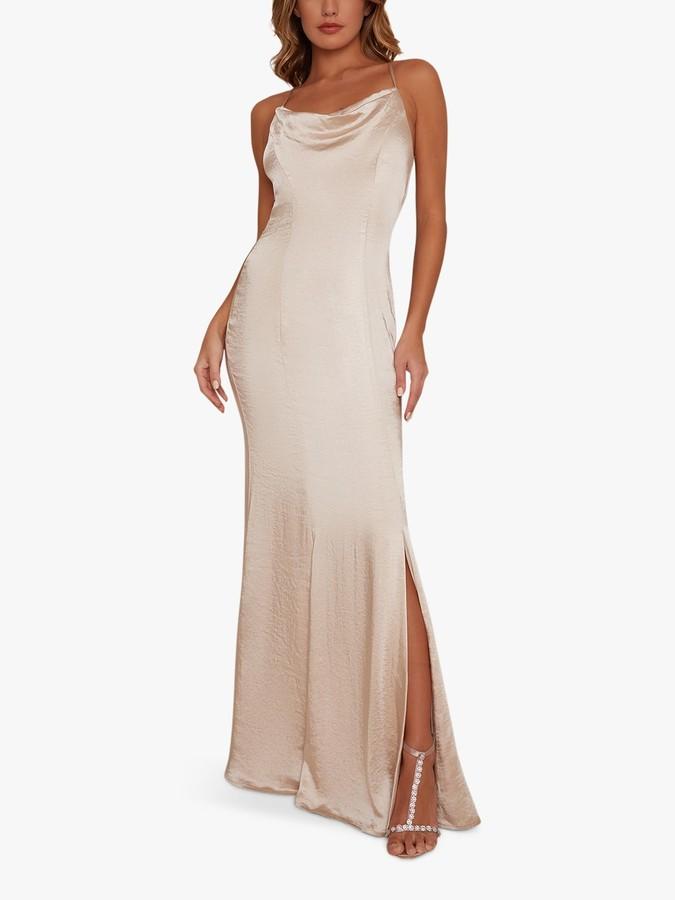 Chi Chi London Trey Dress, Champagne