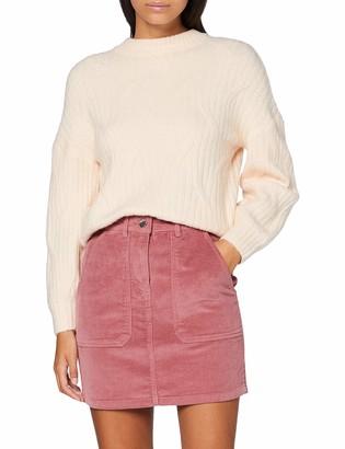 Dorothy Perkins Petite Women's Blush Cord Mini Skirt 12