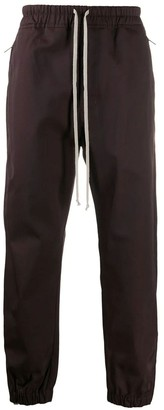Rick Owens Bordeaux Cotton-blend Trousers