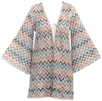 Missoni Plunge-Neck Zigzag Tunic