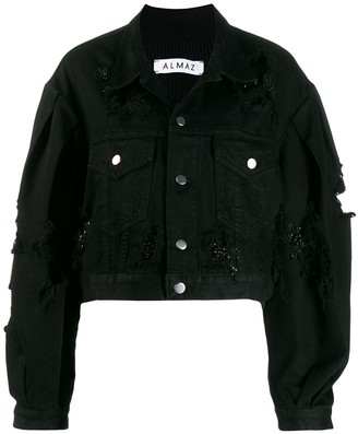 Almaz Cropped Denim Jacket