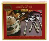 "Spode Set of 6 Christmas Tree 6"" Tea Spoons"