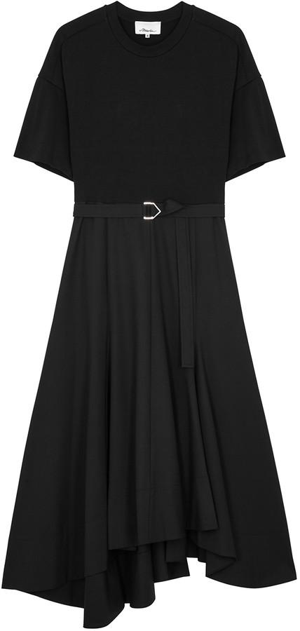 3.1 Phillip Lim Black belted cotton midi dress