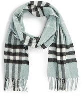 Burberry Women's Heritage Giant Check Fringed Cashmere Muffler