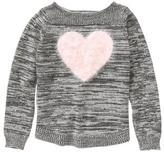 Crazy 8 Fuzzy Heart Sweater