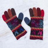 Artisan Crafted 100% Alpaca Colorful Gloves from Peru, 'Bright Tradition'