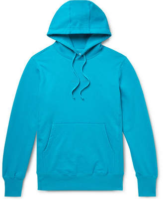 Leon Aimé Dore Logo-Embroidered Loopback Cotton-Jersey Hoodie