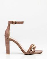 Le Château Croco Chain Link Ankle Strap Sandal