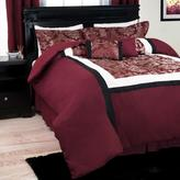 Trademark Global Oriental Maroon 7-Piece Queen Comforter Set