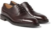 John Lobb Weir Panelled Leather Oxford Shoes - Plum