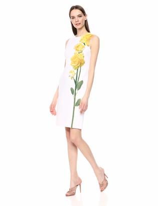 Calvin Klein Women's Sleeveless Round Neck Sheath Dress
