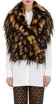 Dries Van Noten Women's Greta Leopard-Print Faux-Fur Wrap Stole-TAN, BLACK