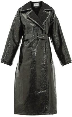 Stand Studio Marissa Faux-shearling Trench Coat - Black