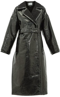 Stand Studio - Marissa Faux-shearling Trench Coat - Womens - Black