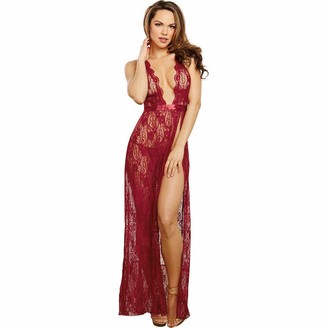 Dreamgirl Women's Lace Gown and G-String Set