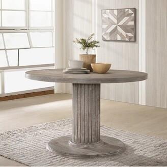 One Allium Way Maxon Wood Pedestal Dining Table