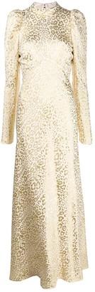 Temperley London Sunset leopard-jacquard dress