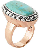 Barse Sterling Silver, Bronze & Turquoise Ring