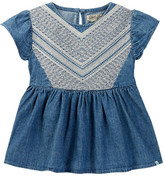 Lucky Brand Embroidered Chambray Mixer Shirt (Toddler Girls)