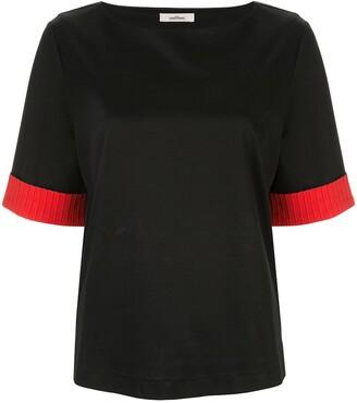 Onefifteen contrast sleeve T-shirt