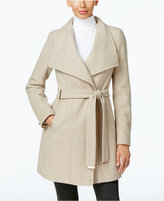 Calvin Klein Wool-Blend Asymmetrical Walker Coat