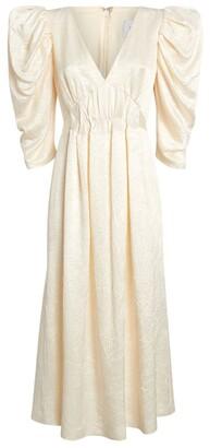 16Arlington Crinkled Kaffir Midi Dress