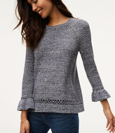 LOFT Marled Ruffle Cuff Sweater