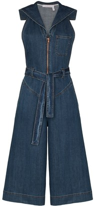 See by Chloe Cropped Denim Jumpsuit
