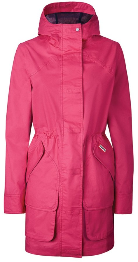 Thumbnail for your product : Hunter Rain jacket cotton hunting coat. - Pink - Small