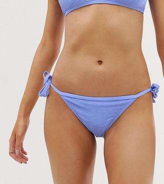 New Look textured bikini bottom in lilac