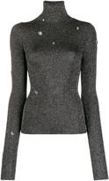 Christopher Kane metallic knit top