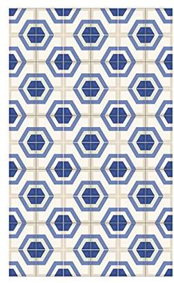 Camilla And Marc Huella Deco h1013-ca-xs cementine Rug Carpet Mat Floor, Vinyl, 57 x 96 cm