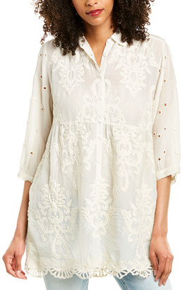 Johnny Was Ava Silk-Blend Tunic