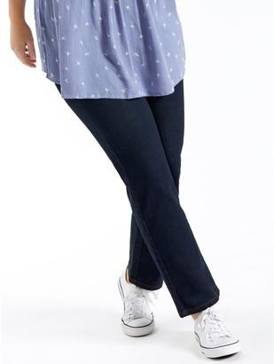 M&Co Plus straight leg jeans