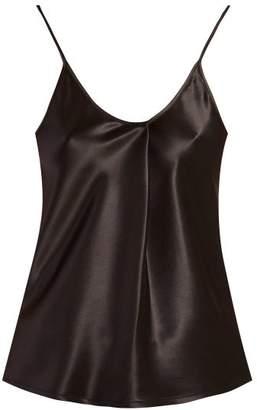 Bottega Veneta Pleated Satin Cami Top - Womens - Black