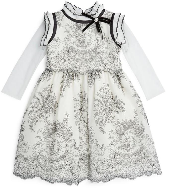 Lesy Ruffle-Collared Dress (4-14 Years)