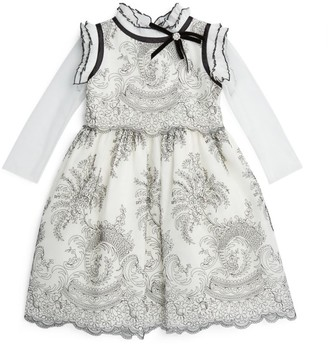 Lesy Ruffle-Collared Dress (4-14 Years)