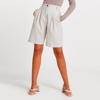 River Island Womens Grey bermuda shorts