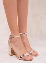 Windsor Smith Rose Gold Barlo Heels