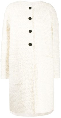 Rochas Textured Single-Breasted Coat