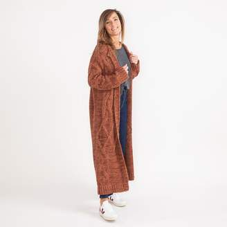 Free People Copper Combo Knitted Cardigan - Extra- Small