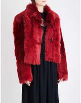 Rochas Single-breasted shearling jacket