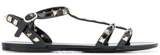 Valentino Rockstud flat rubber sandals