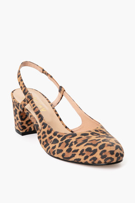 French Sole Leopard Baton Heels